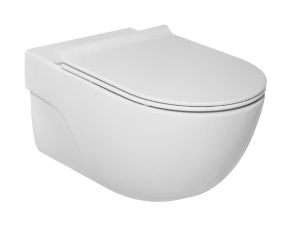 wc Meridian Rimless with QR/SC cover, wall mounted, 360x560 mm, white