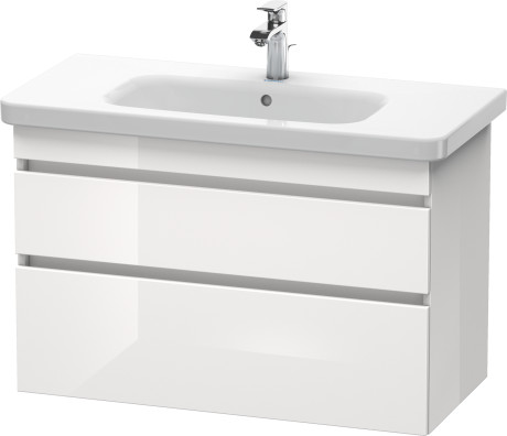 vanity unit DuraStyle, 930x448 mm, h=610 mm, 2 drawers, glossy white