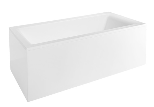 bathtub Forma, 1690x750 mm, with frame, panel and waste, white