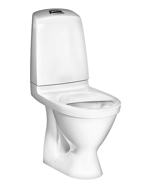 pods Nautic Hygienic Flush, 345x650 mm, horizontāls izvads, 2/4 l, balts