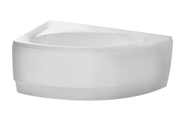 bathtub Idea, 1600x920 mm, with frame, panel and waste, massage system S3, white