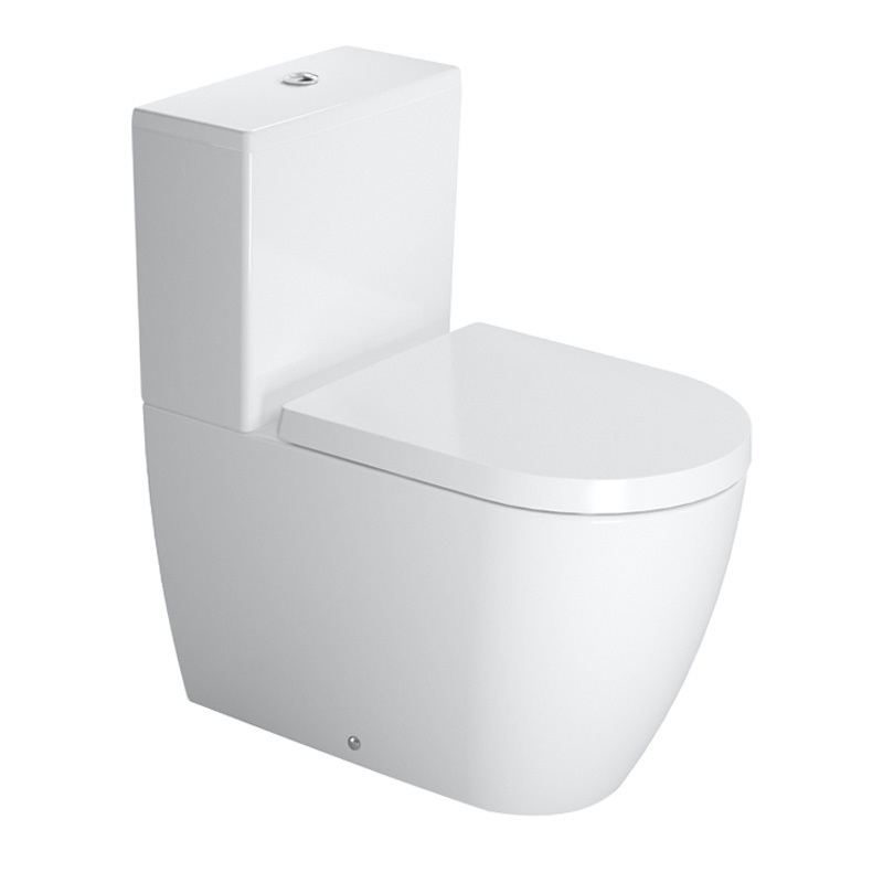 wc  ME by Starck with QR/SC seat and cover,  vario outlet, white