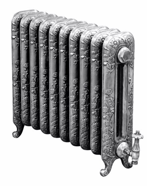 čuguna radiators Daisy H-595mm, 10 sekcijas, Hand Burnished