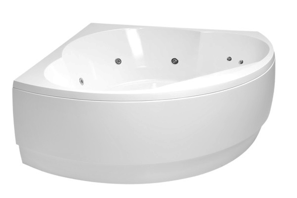 bathtub Metro, 1550x1550 mm, with frame and waste, white