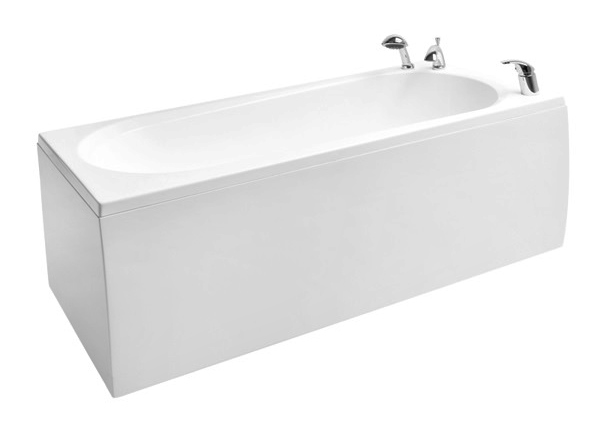 bathtub Modul, 1590x700 mm, with frame, panel and waste, white