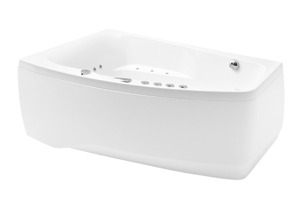 bathtub Orion, 1690x1020 mm, with frame, panel and waste, white