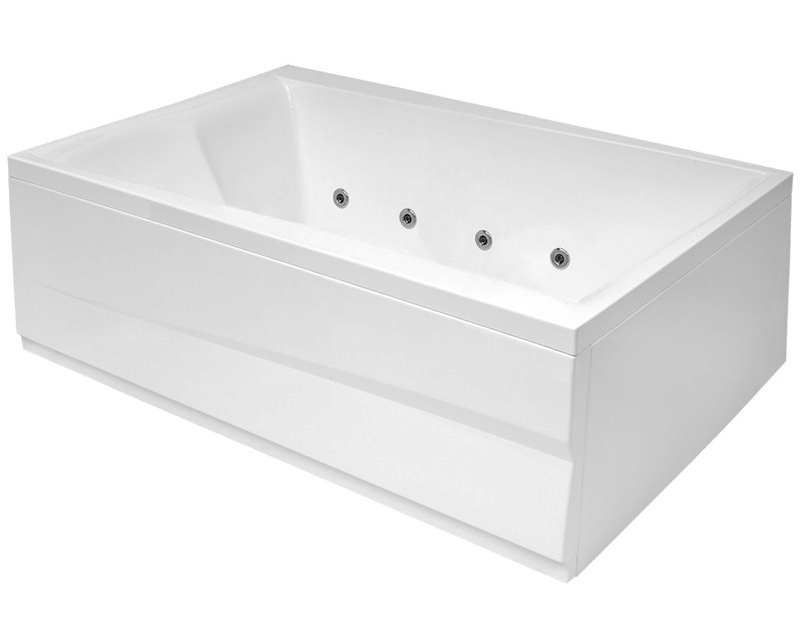 bathtub Scala,1800x1200, with frame and waste, white