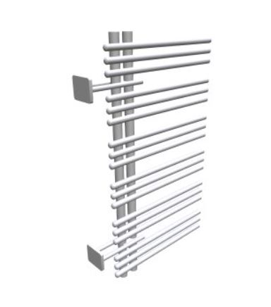 towel rail Yucca asymmetric, 1032x478 mm, left hand, electrical, chrome